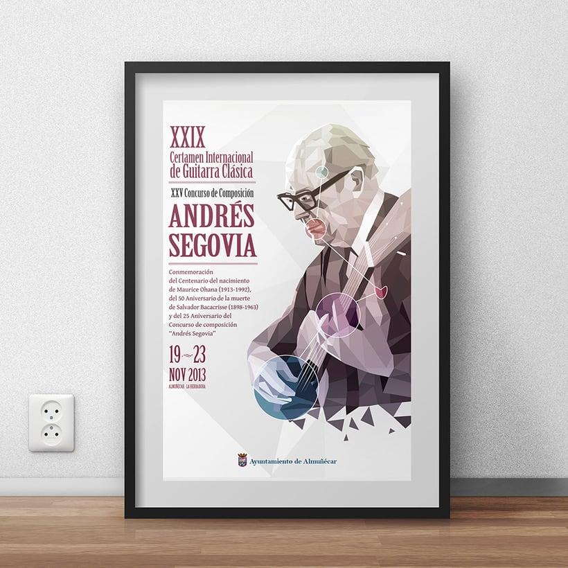 Cartel para Certamen Andrés Segovia 1
