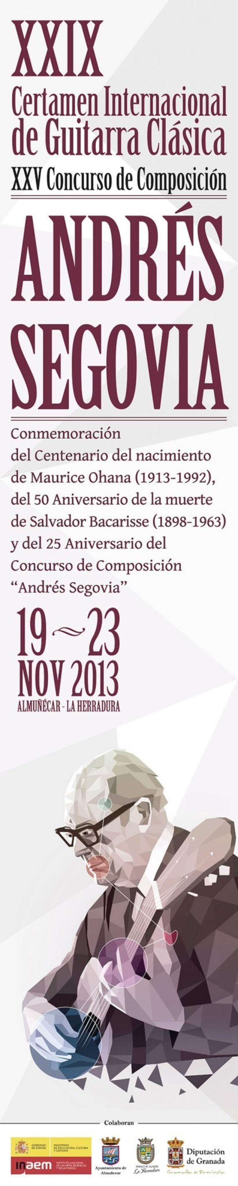 Cartel para Certamen Andrés Segovia 2