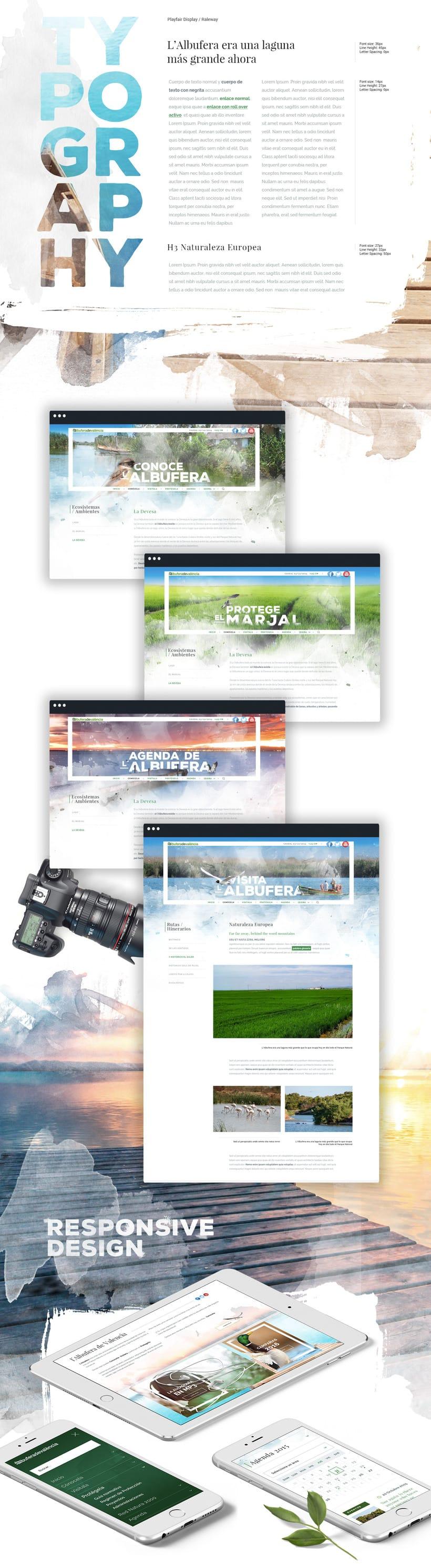 Diseño website - Parque Natural Devesa / Albufera - Ayuntamiento de Valencia 1