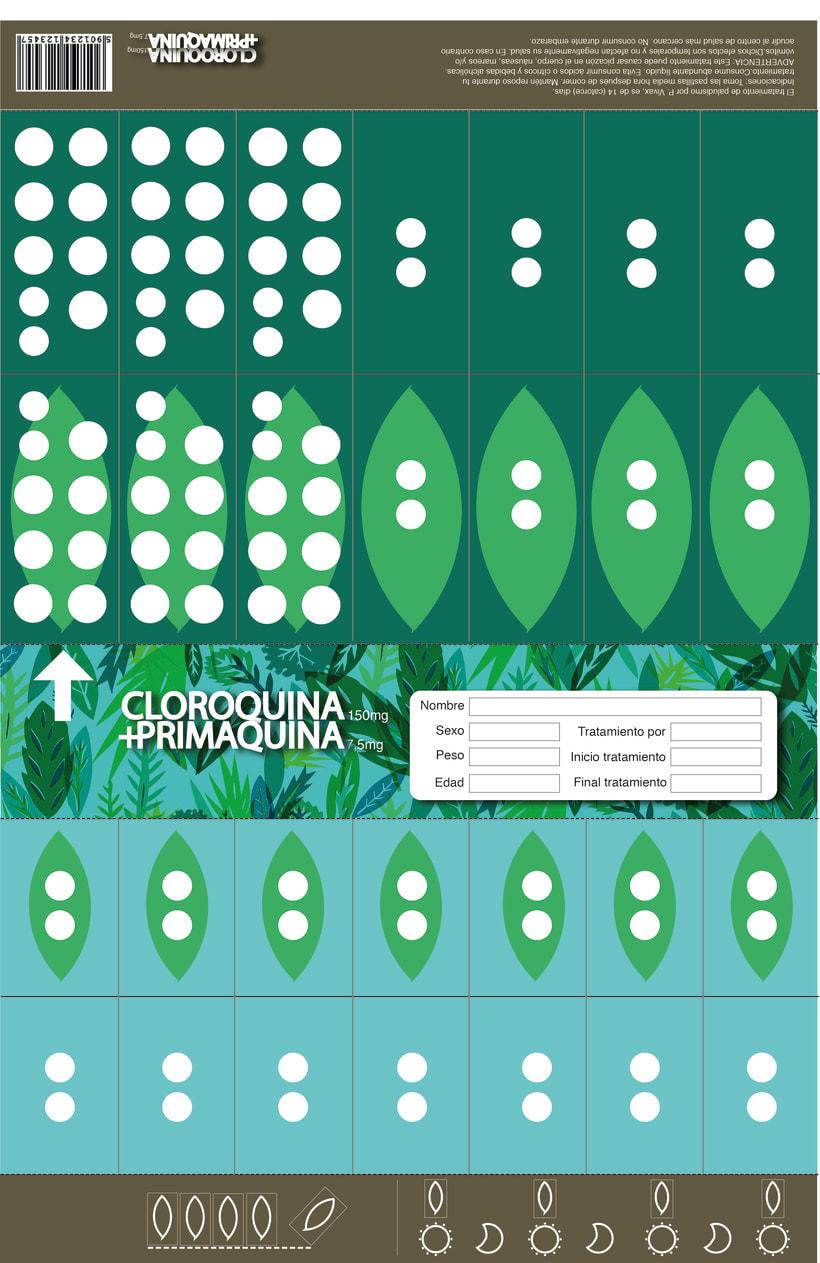 Dieño de blister - Tratamiento de Malaria Amazonas -1