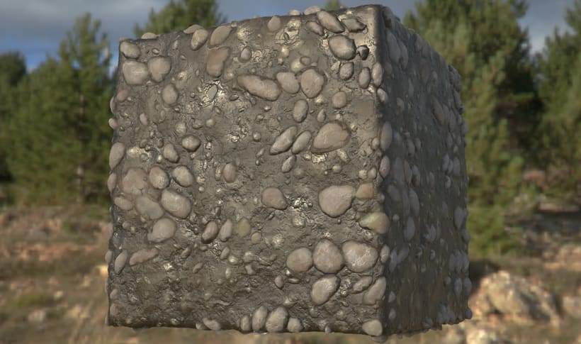 PBR Procedural Mud & Pebbles -1