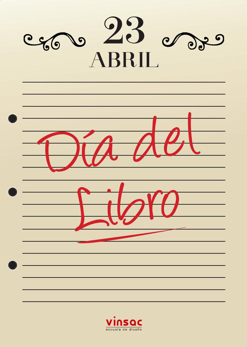 Propuestas de cartel informativo del día del libro 0