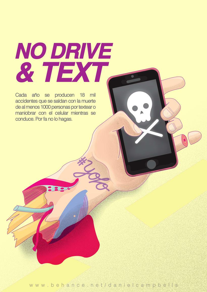 No drive & text. -1