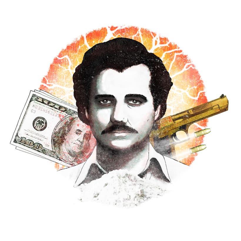 Pablo Escobar: Retrato ilustrado con Photoshop 0