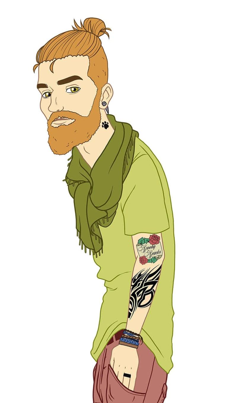 Ilustración: hipster Scooby Doo 2