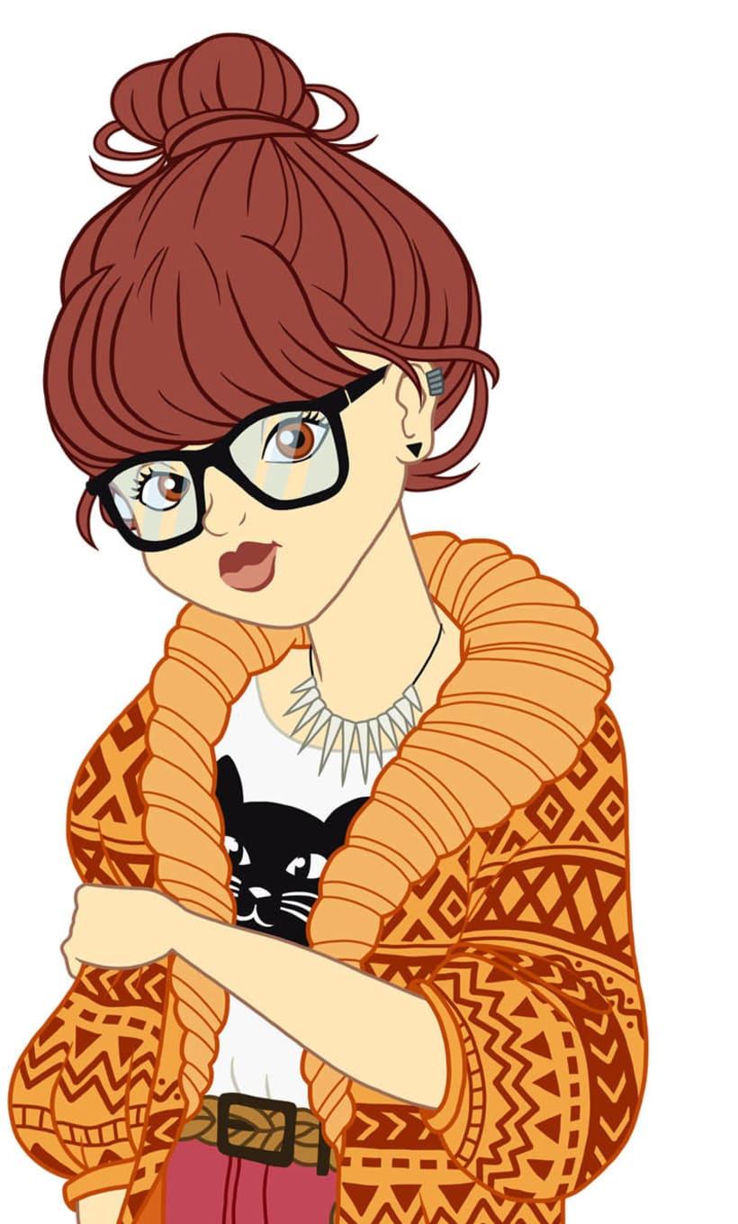 Ilustración: hipster Scooby Doo 1