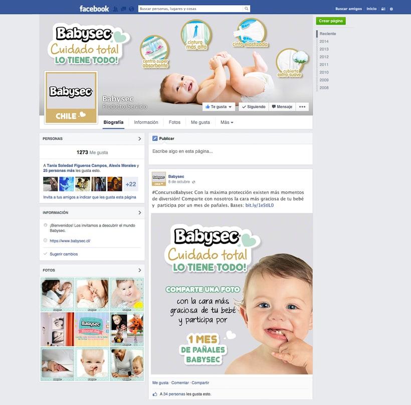 Campaña Babysec Cuidado total 0