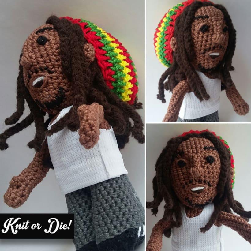 Bob Marley tejido (amigurumi) -1