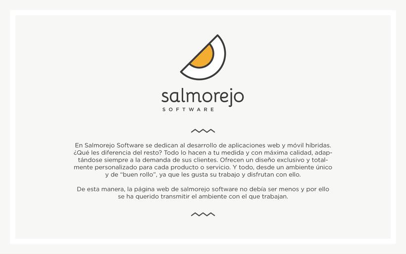 Diseño web para Salmorejo Software 0