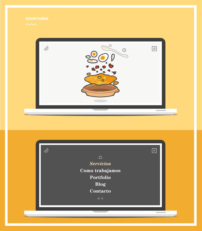Diseño web para Salmorejo Software 3