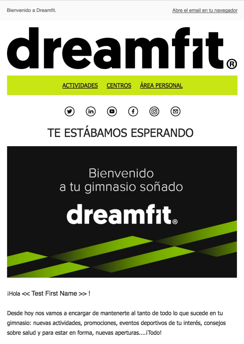 Diseño Campaña DreamFit - Email Marketing -1