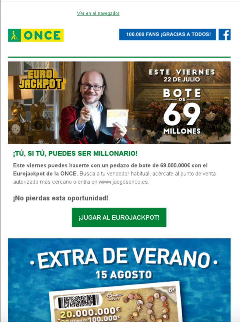 Diseño Campaña ONCE - Email Marketing -1