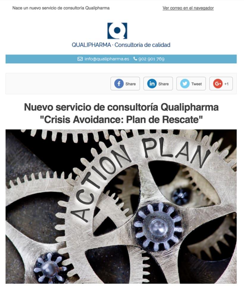 Diseño Campaña Qualipharma - Email Marketing 0