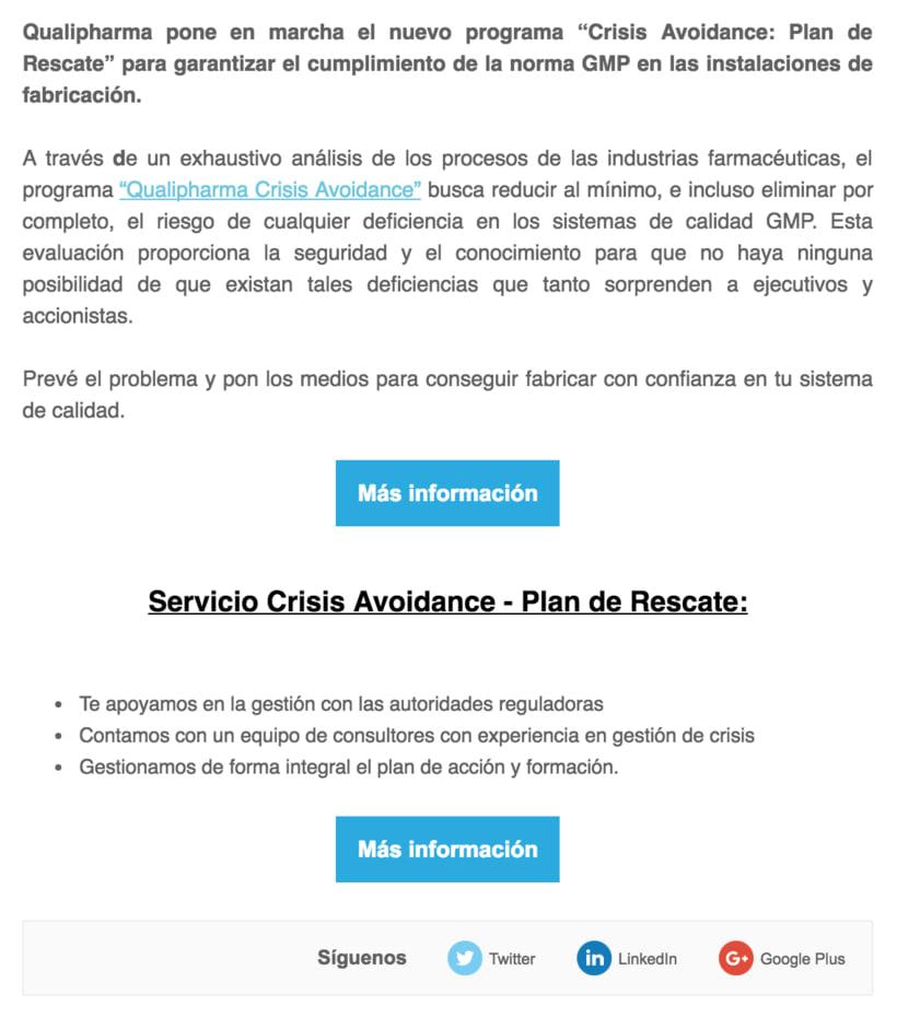 Diseño Campaña Qualipharma - Email Marketing 1