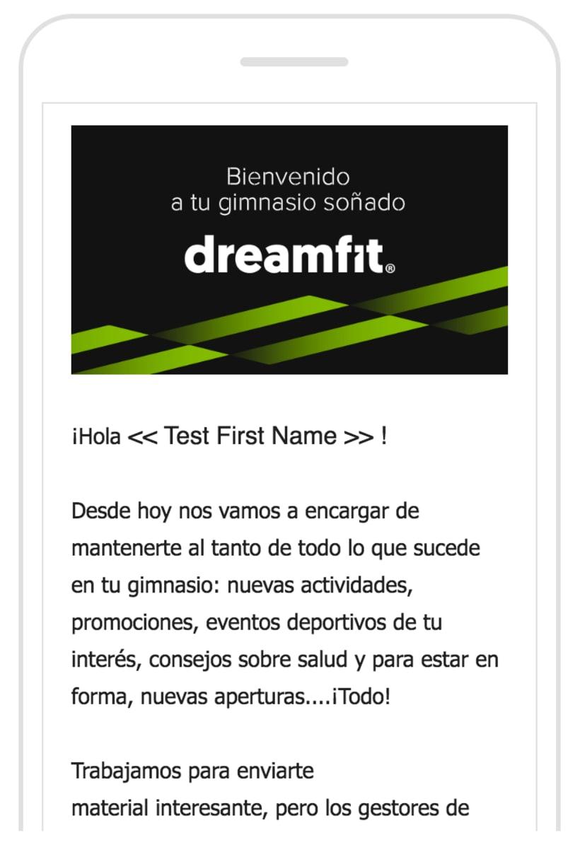 Diseño Campaña Móvil DreamFit - Email Marketing -1