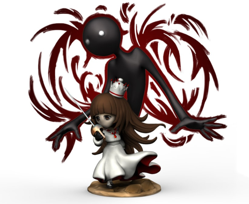 Deemo and the girl scupt -1