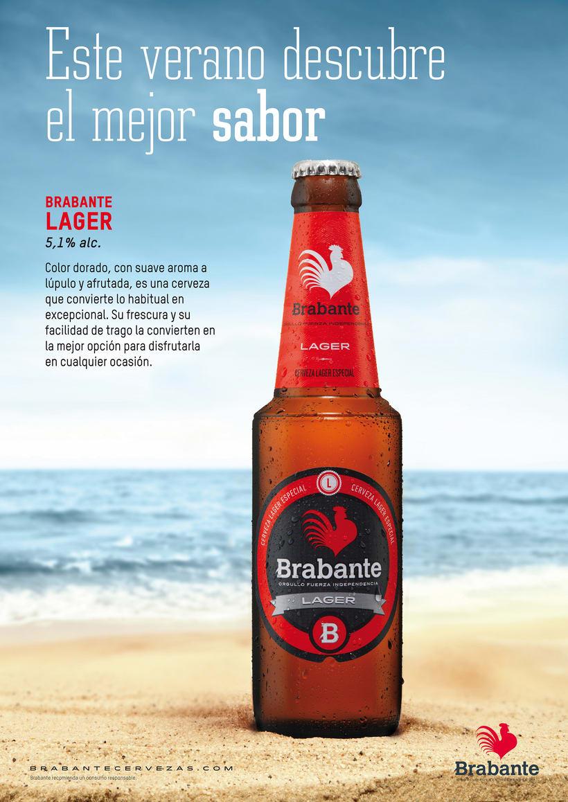 Cartel promocional Brabante Lager -1