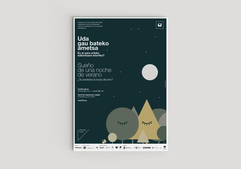 """Diseño del cartel """"Sueño de una noche de verano"""" 3"""