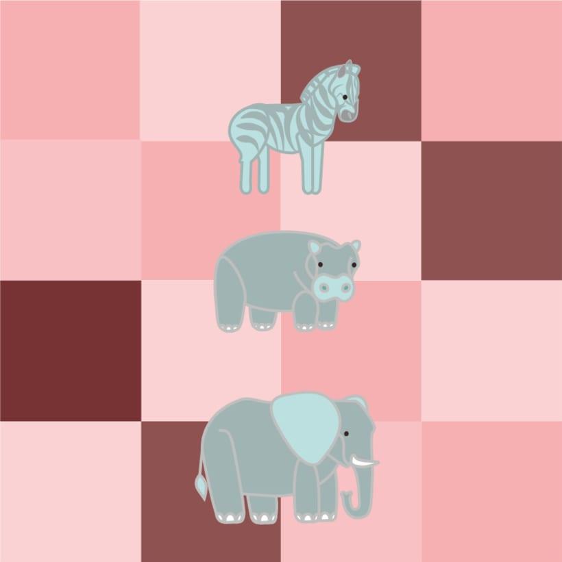 Ilustración Infantil. Aprendiendo los animales -1