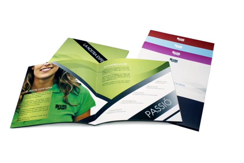 Publishing design | Corporate program. Club Lleuresport 1