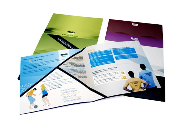 Publishing design | Corporate program. Club Lleuresport 4