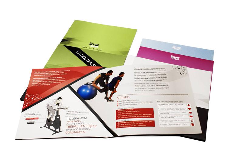 Publishing design | Corporate program. Club Lleuresport 5