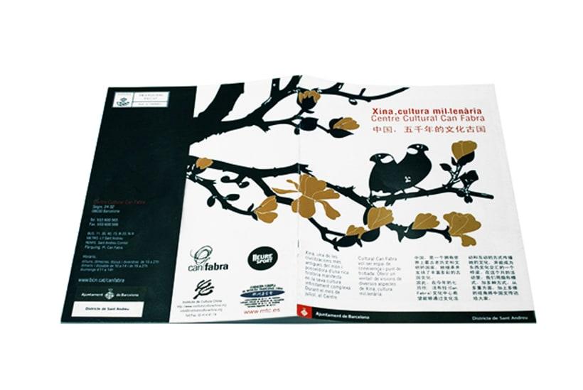Editorial design | Conference chinese publicity | Centro Cívico Can Fabra, Ajuntament de Barcelona 1