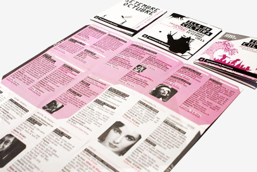 Graphic design | Different cultural activity programs. Centre Civic Urgell, Ajuntament de Barcelona 1