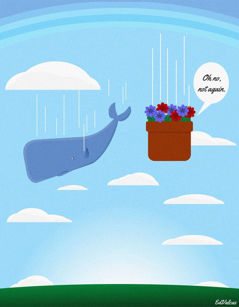 Ilustración/animación de la ballena y las petunias 0