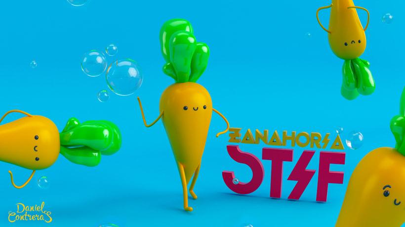 Mi Proyecto del curso: Diseño de personajes en Cinema 4D del boceto a la impresión 3D (Zanahoria Stif ) -1