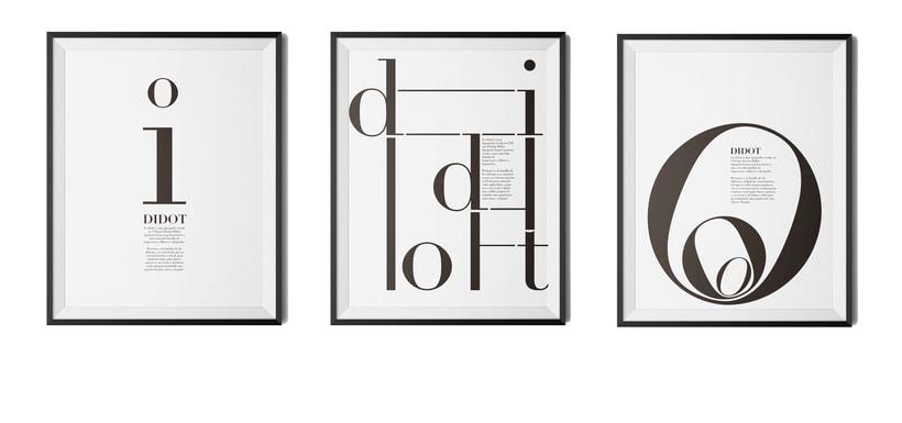 Carteles tipografía Didot 2