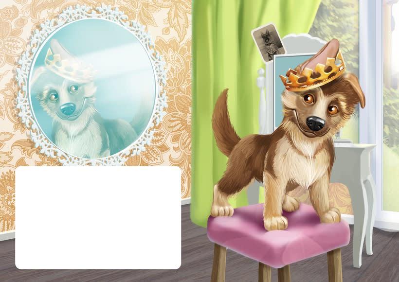 """Ilustraciones para el libro de niños """"yo soy perro el pastor"""" 0"""