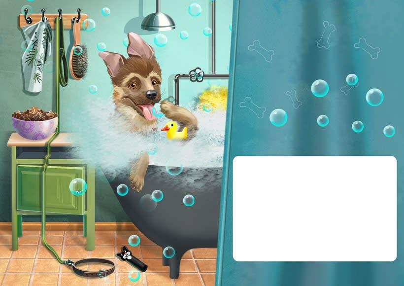 """Ilustraciones para el libro de niños """"yo soy perro el pastor"""" 2"""