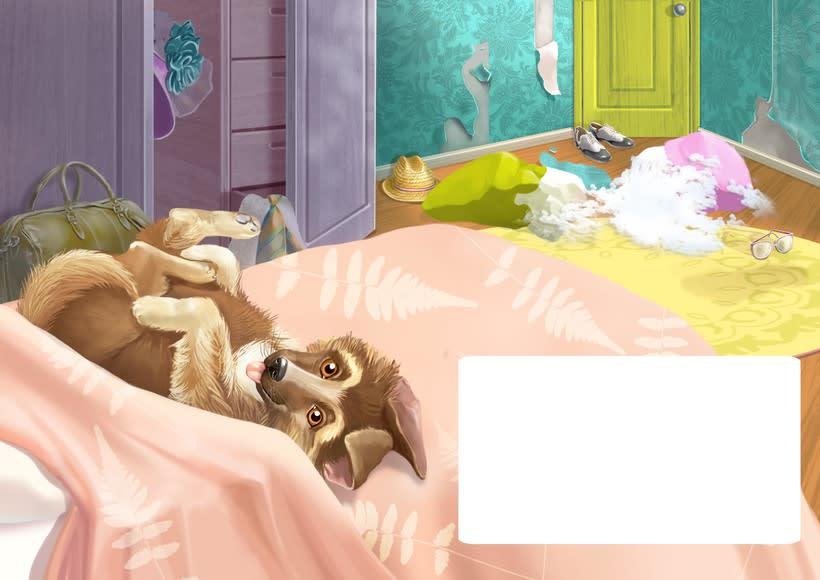 """Ilustraciones para el libro de niños """"yo soy perro el pastor"""" 3"""