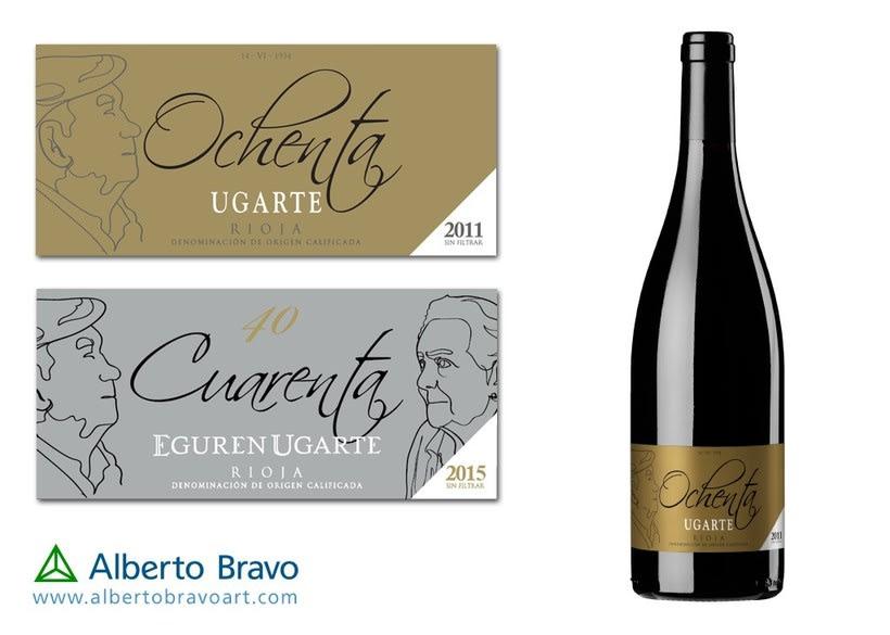 Retrato etiquetas vino 2