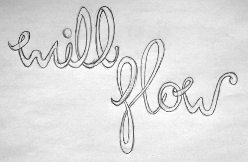 Everything will flow lettering 2