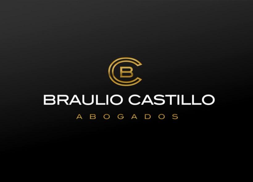 Diseño de logotipo para Braulio Castillo Abogados, un despacho de abogados multidisciplinar ubicado en Madrid 1