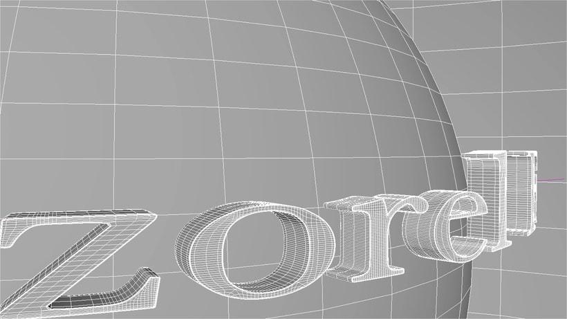 Práctica logo 3D estilo universal animado. Render con VRay 1