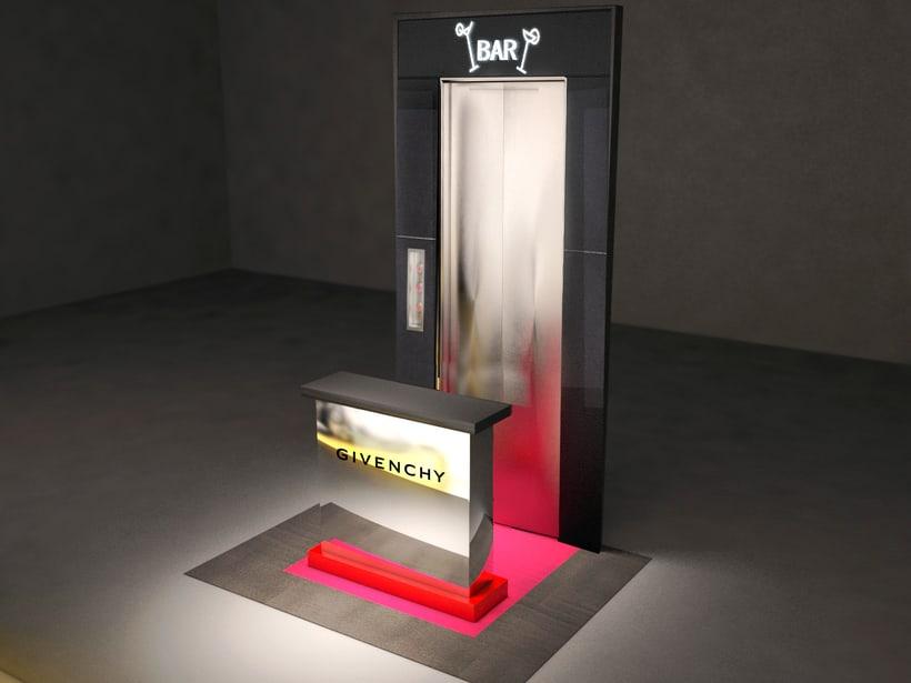 Evento Málaga Givenchy y propuestas de muebles para perfumes. 0