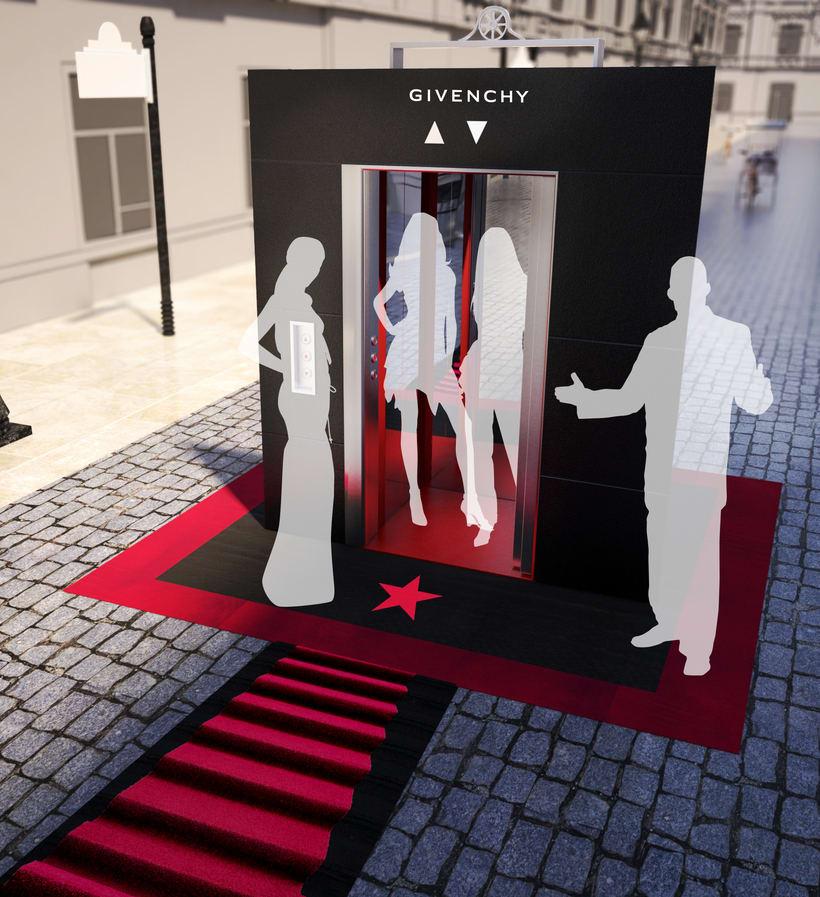 Evento Málaga Givenchy y propuestas de muebles para perfumes. 1