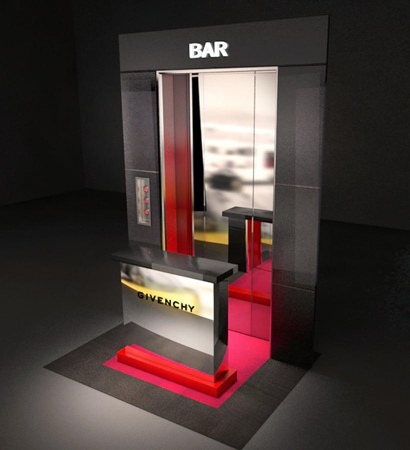 Evento Málaga Givenchy y propuestas de muebles para perfumes. 2