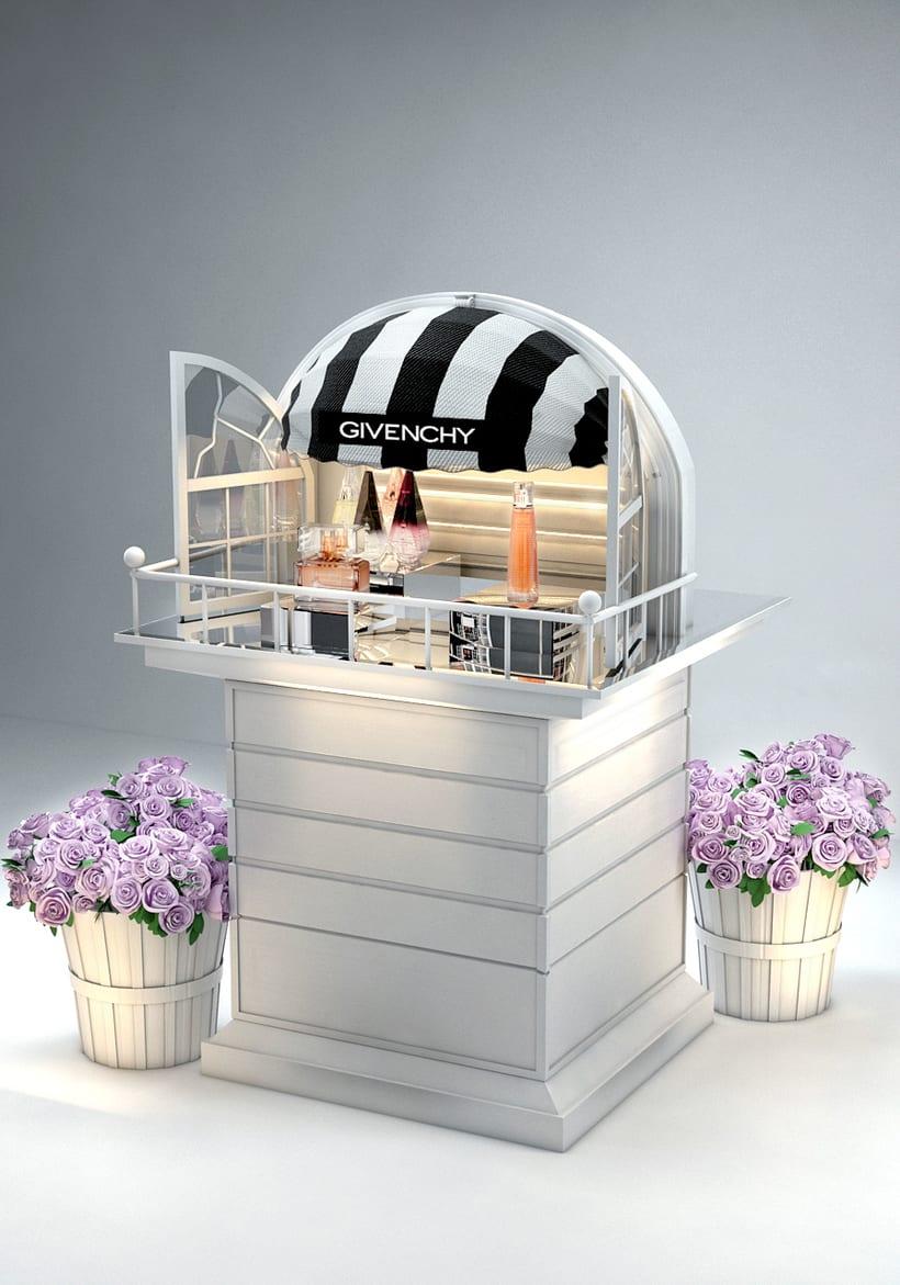 Evento Málaga Givenchy y propuestas de muebles para perfumes. 7