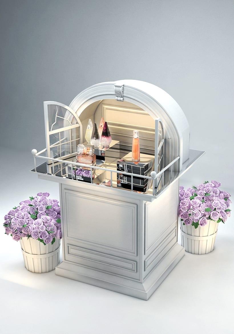 Evento Málaga Givenchy y propuestas de muebles para perfumes. 12
