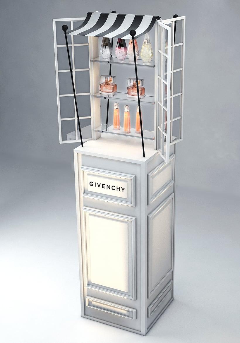 Evento Málaga Givenchy y propuestas de muebles para perfumes. 13