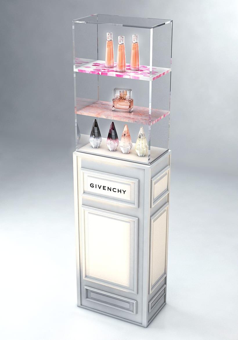 Evento Málaga Givenchy y propuestas de muebles para perfumes. 14