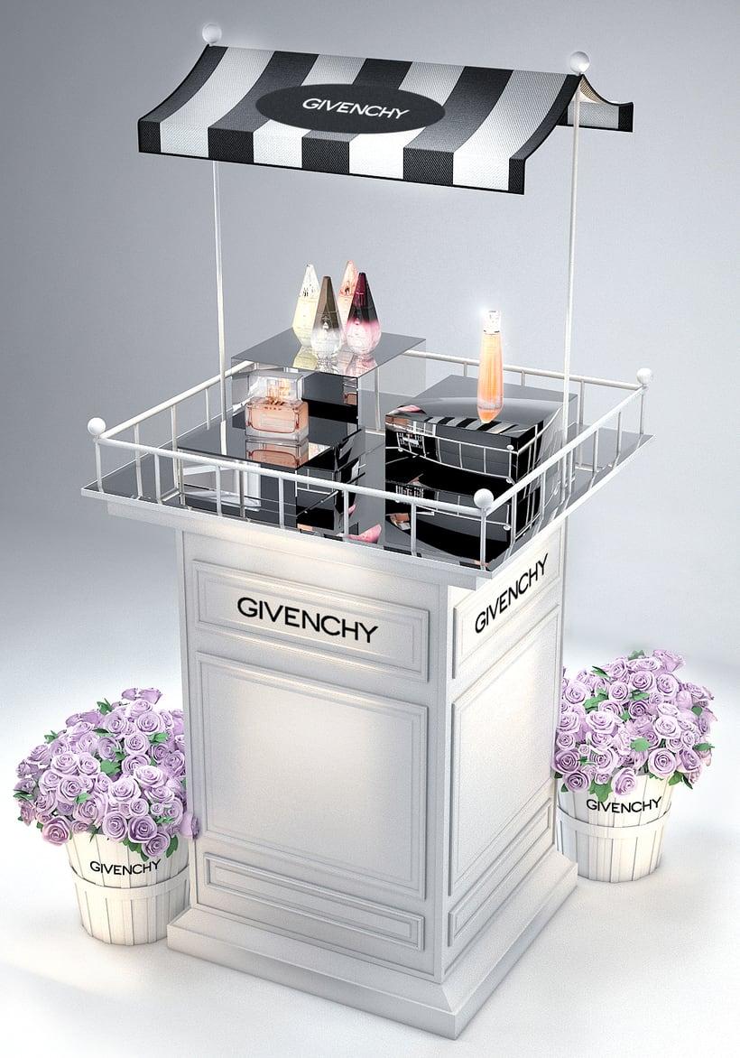 Evento Málaga Givenchy y propuestas de muebles para perfumes. 15