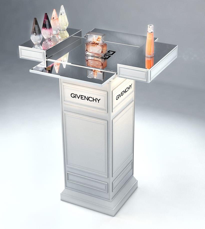 Evento Málaga Givenchy y propuestas de muebles para perfumes. 16