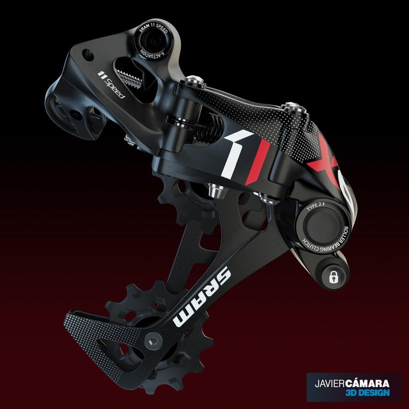 3D - SRAM X01 Rear Derailleur 11-Speed 3