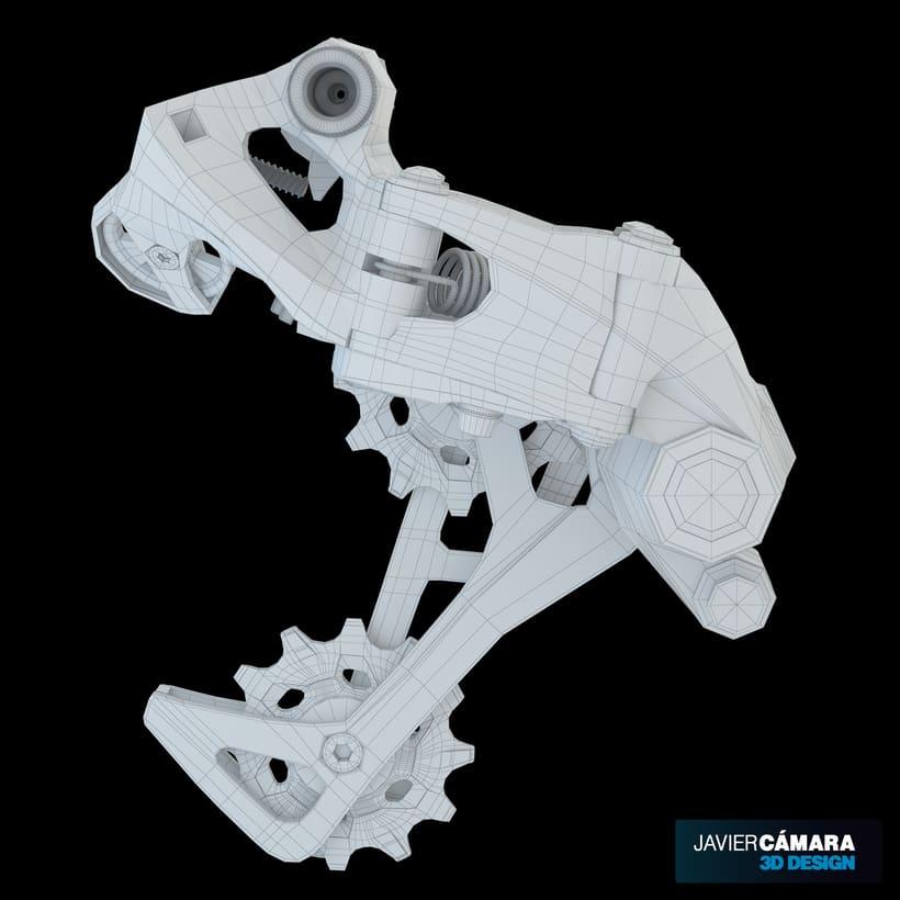 3D - SRAM X01 Rear Derailleur 11-Speed 1