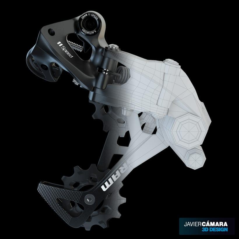 3D - SRAM X01 Rear Derailleur 11-Speed 4